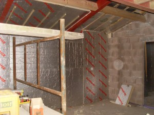 Kingspan insulation in the walls and roof