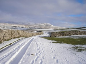 Peny-y-ghent in winter